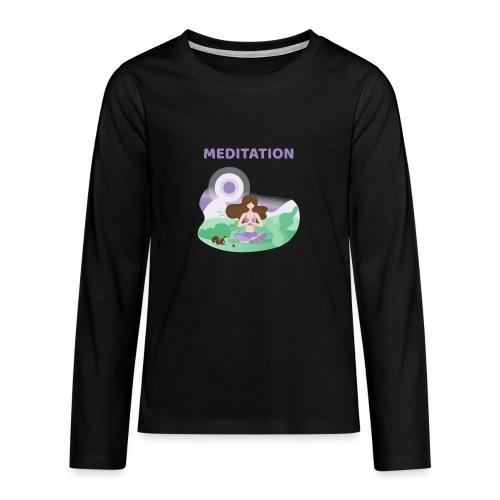 Yoga Meditation - Maglietta Premium a manica lunga per teenager