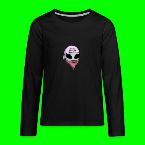 gangsta alien logo - Maglietta Premium a manica lunga per teenager