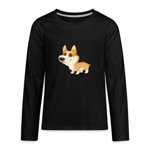 corgi - Teinien premium pitkähihainen t-paita