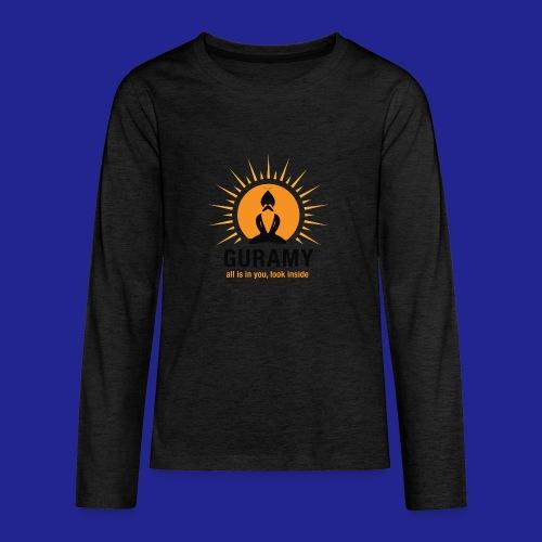 final nero con scritta - Teenagers' Premium Longsleeve Shirt