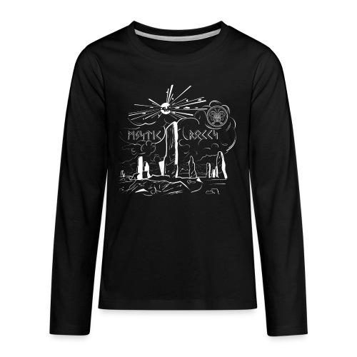 Pyro Mystic Rocks Feuerwerk - Teenager Premium Langarmshirt