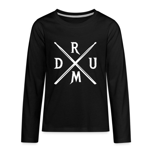 DRUM gekreuzte Drumsticks coole Schlagzeuger - Teenager Premium Langarmshirt