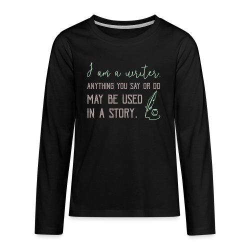0267 History | Author | Writer | story - Teenagers' Premium Longsleeve Shirt