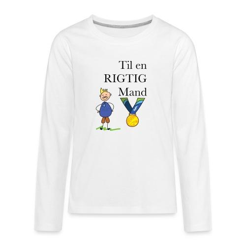 En rigtig mand - Teenager premium T-shirt med lange ærmer