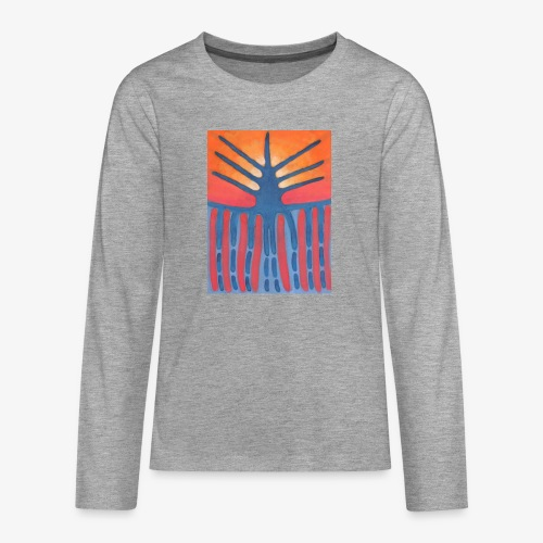 drzewo prehistoryczne 1 - Koszulka Premium z długim rękawem dla nastolatków