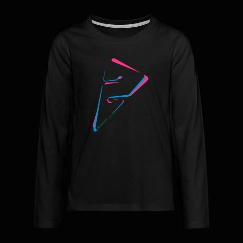 arrow freigestellt mit dirfactorytext - Teenager Premium Langarmshirt