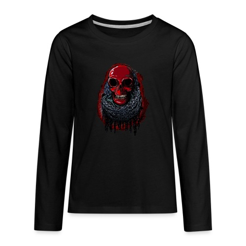 Red Skull in Chains - Teenagers' Premium Longsleeve Shirt