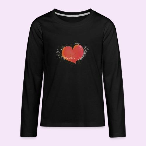 Blozend hartje kinder baby shirt - Teenager Premium shirt met lange mouwen