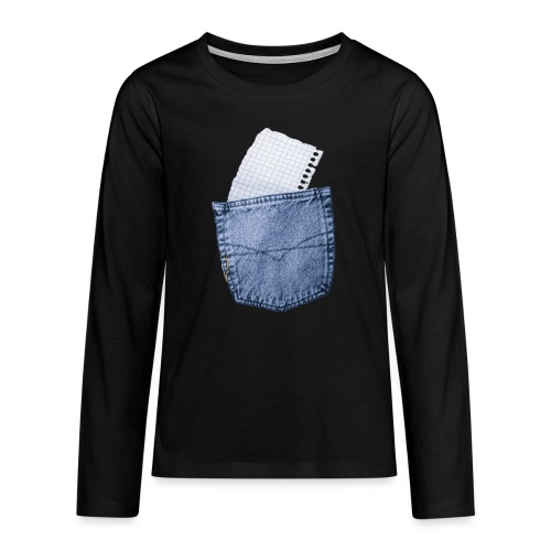 Jeans Baggy by #OneCreativeArts - Teenager Premium Langarmshirt