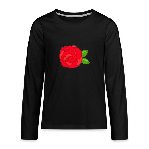Róża - Koszulka Premium z długim rękawem dla nastolatków