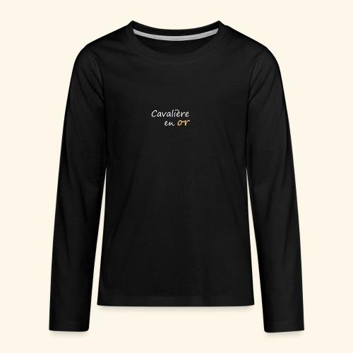 Cavalière en or - T-shirt manches longues Premium Ado