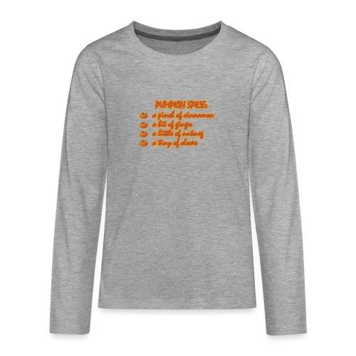 PumpkinSpiceRecipe - Maglietta Premium a manica lunga per teenager