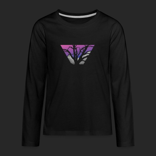 Purple Branches - Teenagers' Premium Longsleeve Shirt