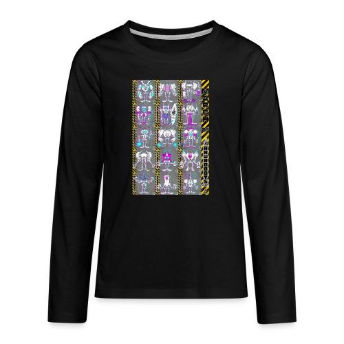 #MarchOfRobots ! NR 16-30 - Teenager premium T-shirt med lange ærmer