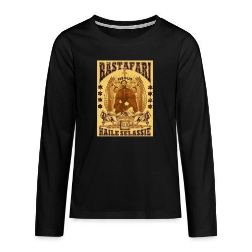 Rastafari Haile Selassie Reggae Roots JahBless - Teenager Premium Langarmshirt