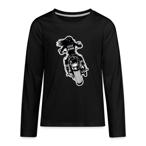 Biker Woman - Camiseta de manga larga premium adolescente