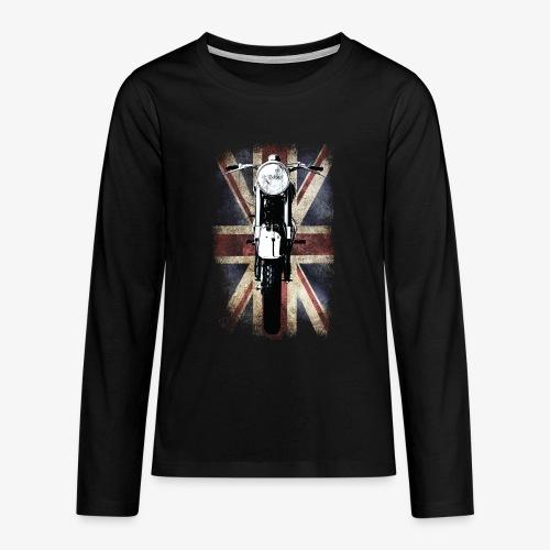 Vintage Motor Cycle BSA feature patjila - Teenagers' Premium Longsleeve Shirt