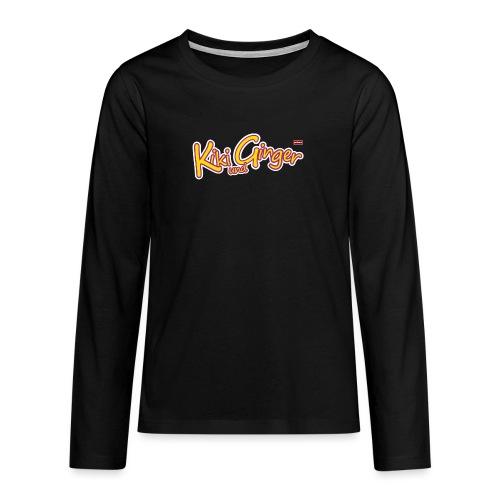 patame Kiki und Ginger Logo - Teenager Premium Langarmshirt