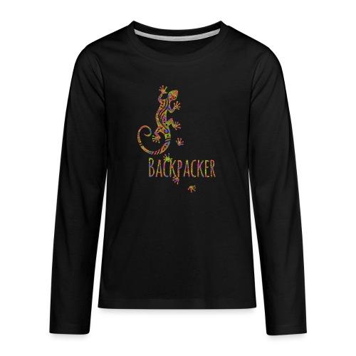 Backpacker - Running Ethno Gecko 3 - Teenager Premium Langarmshirt