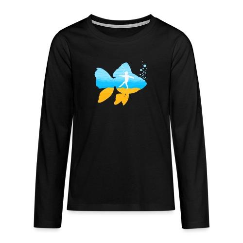 GEVOELIG VISJE - Teenager Premium shirt met lange mouwen