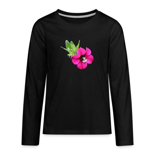 Miljoonakello ja kimalainen - Teinien premium pitkähihainen t-paita