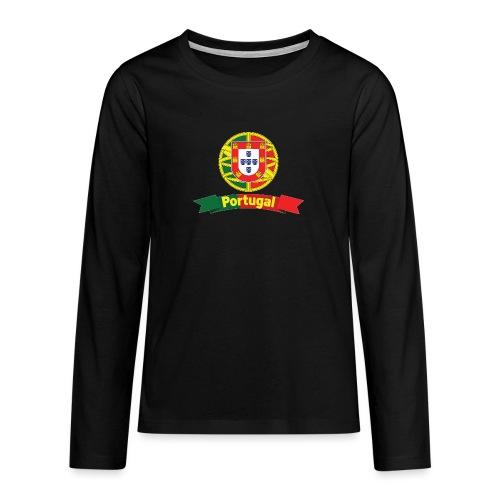 Portugal Campeão Europeu Camisolas de Futebol - Teenagers' Premium Longsleeve Shirt