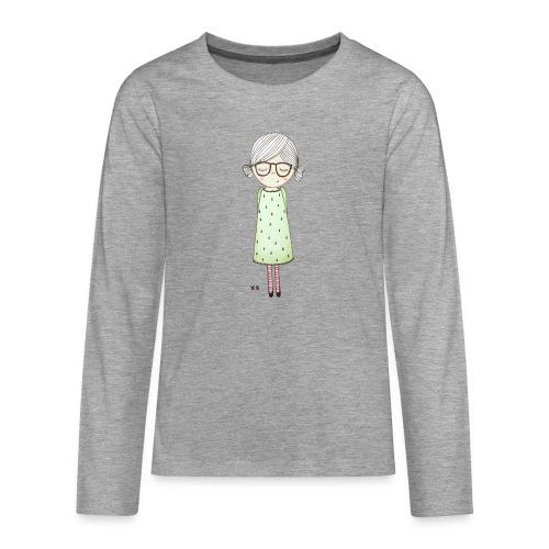 meisje met bril - Teenager Premium shirt met lange mouwen