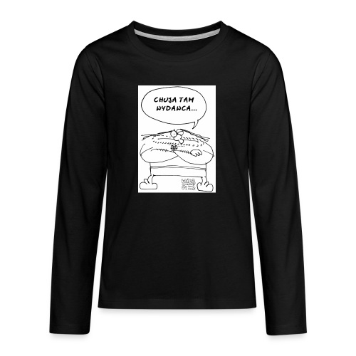 chuja tam wydawca - Koszulka Premium z długim rękawem dla nastolatków