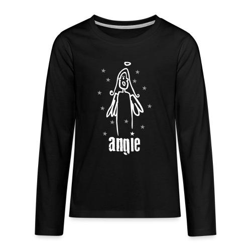 engel angie - Teenager Premium Langarmshirt