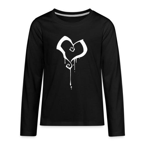 Coeur - T-shirt manches longues Premium Ado
