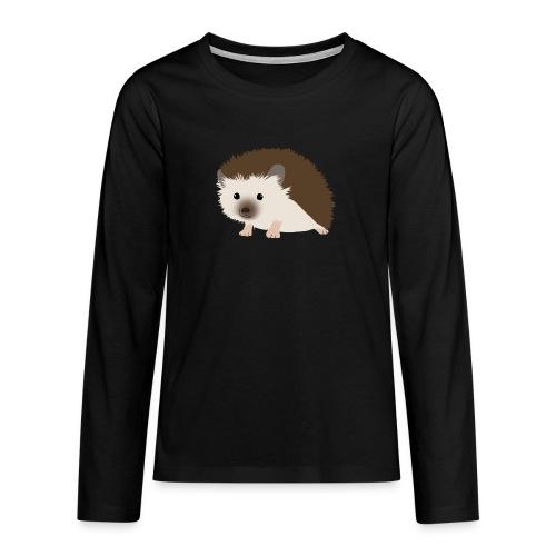 Siili - Teinien premium pitkähihainen t-paita
