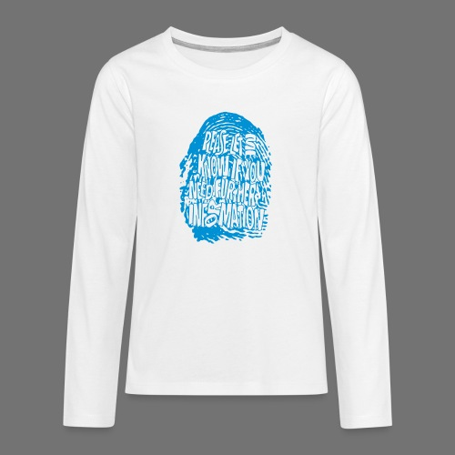 Fingerprint DNA (blue) - Teenagers' Premium Longsleeve Shirt