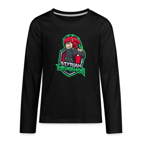 styrian hedgehog Logo - Teenager Premium Langarmshirt