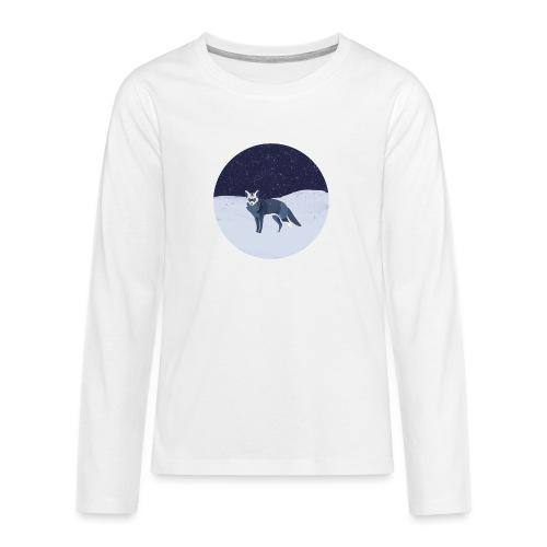 Blue fox - Teinien premium pitkähihainen t-paita