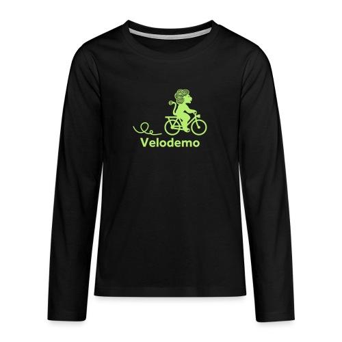 Züri-Leu mit Text - Teenager Premium Langarmshirt