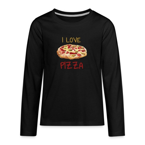 I love Pizza - Teenager Premium Langarmshirt