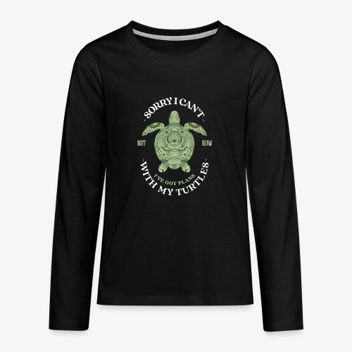 Turtleplans - Teinien premium pitkähihainen t-paita