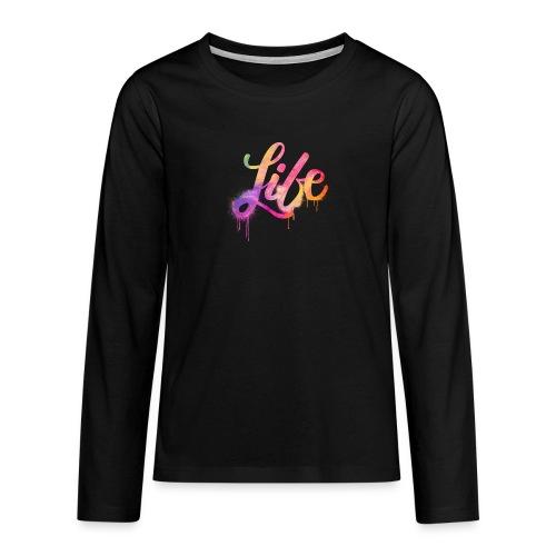 life - Maglietta Premium a manica lunga per teenager