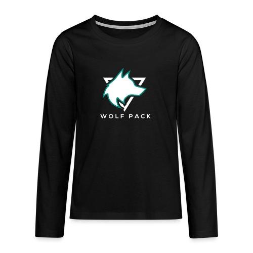 Wolf Pack Logo (NEW) - Teenagers' Premium Longsleeve Shirt