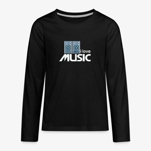 Amo la música 02 - Camiseta de manga larga premium adolescente
