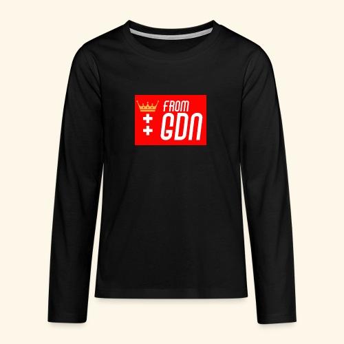 #fromGDN - Koszulka Premium z długim rękawem dla nastolatków