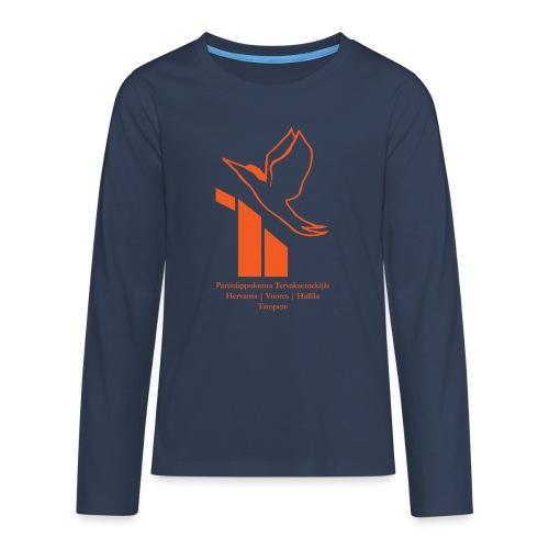 terte paitalogo - Teinien premium pitkähihainen t-paita