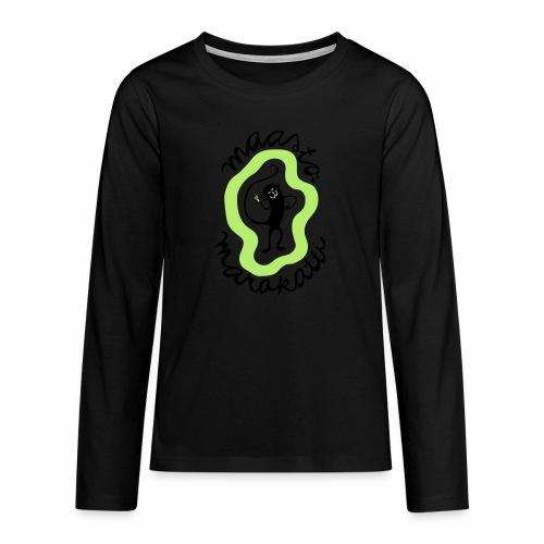 Maastomarakatti - Teinien premium pitkähihainen t-paita