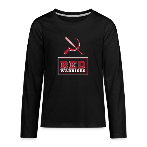 Red Warriors Logo2 - T-shirt manches longues Premium Ado