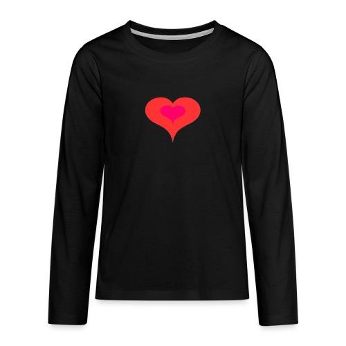 Corazon II - Camiseta de manga larga premium adolescente