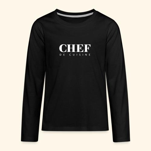 BOSS de cuisine - logotype - Teenagers' Premium Longsleeve Shirt