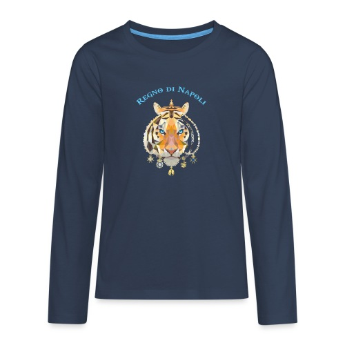 regno di napoli tigre - Maglietta Premium a manica lunga per teenager