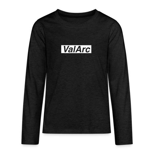 ValArc Text Merch White Background - T-shirt manches longues Premium Ado