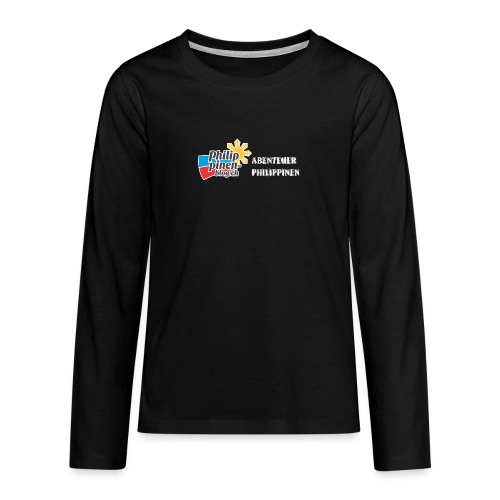 Philippinen-Blog Logo deutsch schwarz/weiss - Teenager Premium Langarmshirt