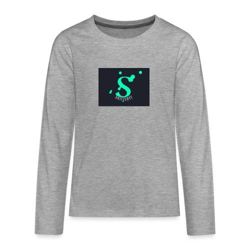 skitterYT - Långärmad premium T-shirt tonåring